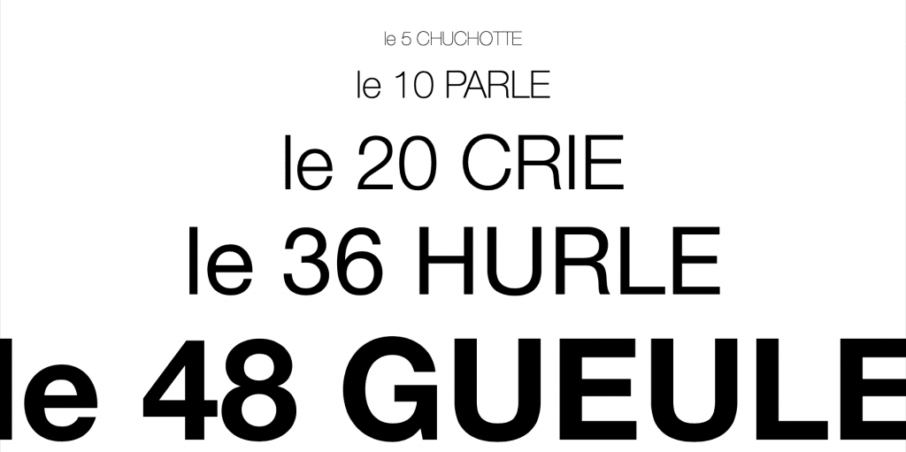 taille police caractère typo typographie