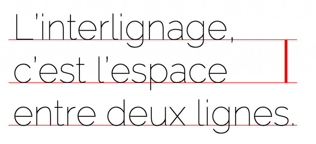 interlignage typo typographie espace police écriture