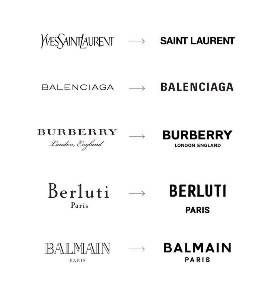 marques luxe typo typographie empattement sans sérif